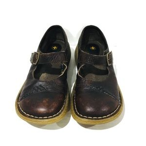 Dr. Martens Brown Leather Mary Jane Sneaker Shoes